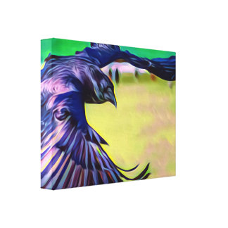 Fantasy Raven in flight canvas print