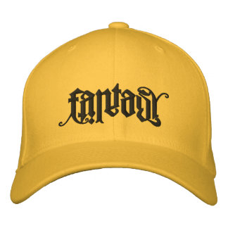 Fantasy/Reality Ambigram Lid Embroidered Hat