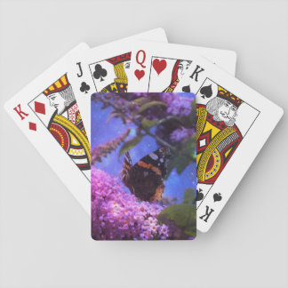 Fantasy Red Admiral Butterfly Playing Cards