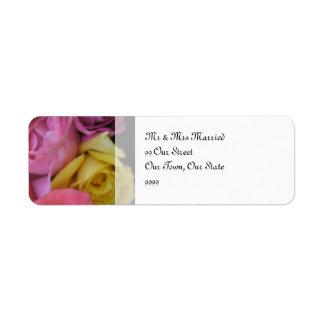Fantasy Rose Wedding Return Address Label
