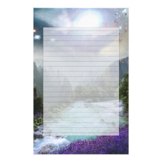 Fantasy Scenic Nature Landscape Custom Stationery