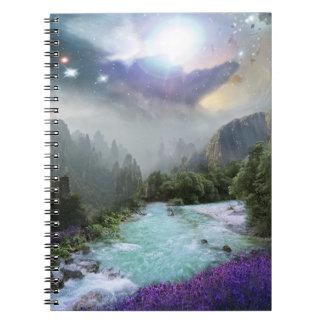 Fantasy Scenic Nature Landscape Spiral Note Book