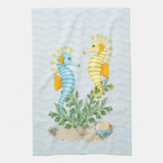 Fantasy Sea Horse and Bling Tea Towel