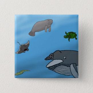 Fantasy Seascape 15 Cm Square Badge