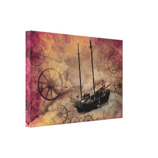 Fantasy Ship Steampunk Wall Art Print