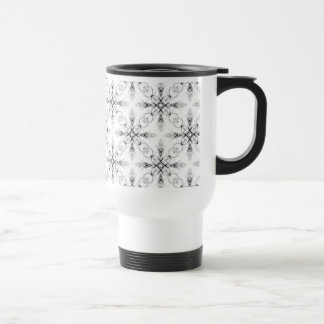 Fantasy Sketch Effect Fractal Pattern Travel Mug