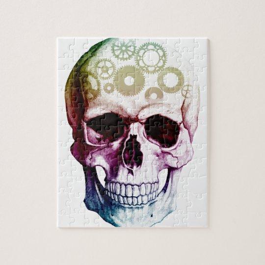 Sugar Skull | Ink pen drawings, Jigsaw
