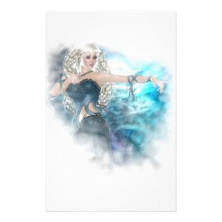 Fantasy Sky Siren Vignette Customized Stationery