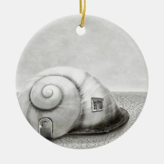 Fantasy snail 2 christmas ornament
