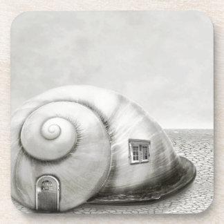 Fantasy snail 2 drink coasters