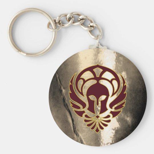 Fantasy Spartan Warrior Greek Metal Keychain