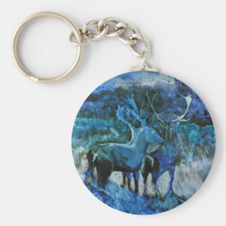 Fantasy stags key ring
