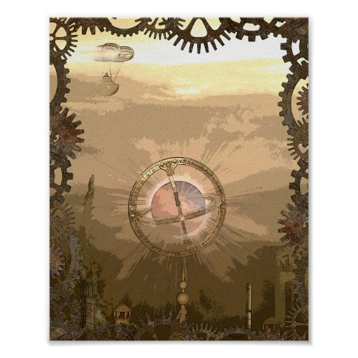 Fantasy Steampunk Inspired Poster Print