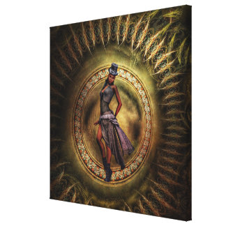 fantasy Steampunk Lady B Canvas Print