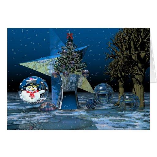 Fantasy surrealistic Christmas scenery Text card
