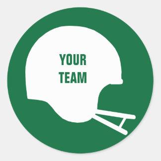 Fantasy Team Football Helmet Classic Round Sticker