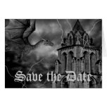 Fantasy theme wedding dragon Save the Date Note Card