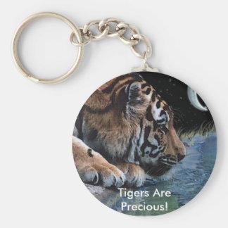 Fantasy Tiger & Moon Key Ring