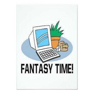 Fantasy Time 13 Cm X 18 Cm Invitation Card