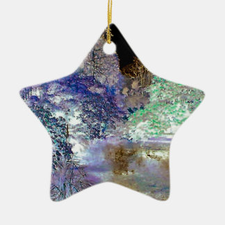 Fantasy Trees Abstract Landscape Christmas Ornament