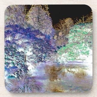 Fantasy Trees Abstract Landscape Coaster