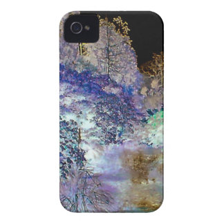 Fantasy Trees Abstract Landscape iPhone 4 Case
