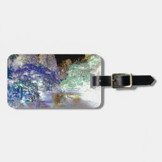 Fantasy Trees Abstract Landscape Luggage Tag