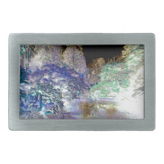Fantasy Trees Abstract Landscape Rectangular Belt Buckle