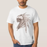 Fantasy Tribal Wing Indian Skull Men's T-Shirt