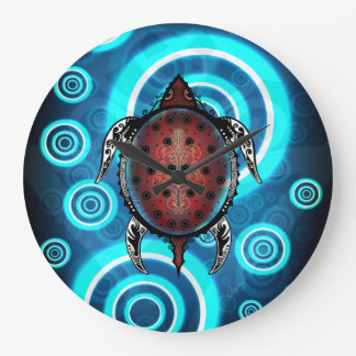 Fantasy Turtle Tattoo Wallclocks