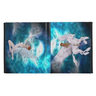 Fantasy Unicorn and Beautiful Faerie, iPad Folio iPad Folio Case