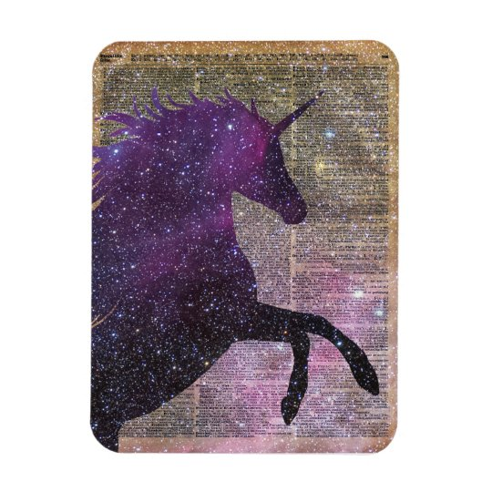 Fantasy Unicorn in the Space Rectangular Photo Magnet