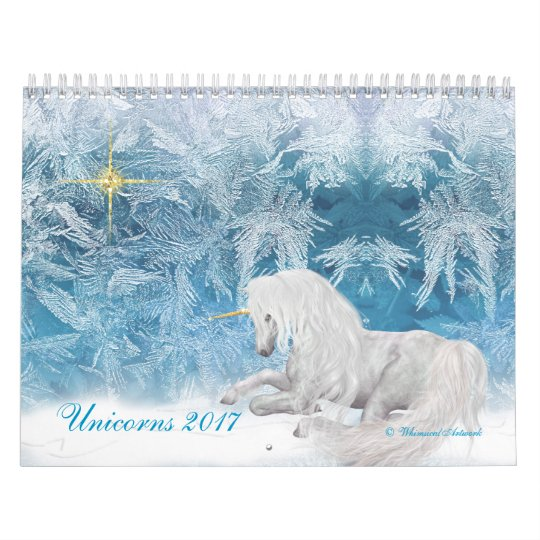 Fantasy Unicorns and Pegasus on Ice 2017 Calendar