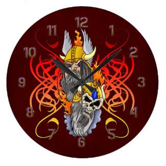 Fantasy Viking Warrior Wall Clock