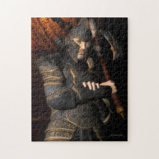 Fantasy Warlord in Armor Jigsaw Puzzle