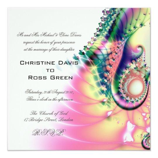 Fantasy wedding invitation