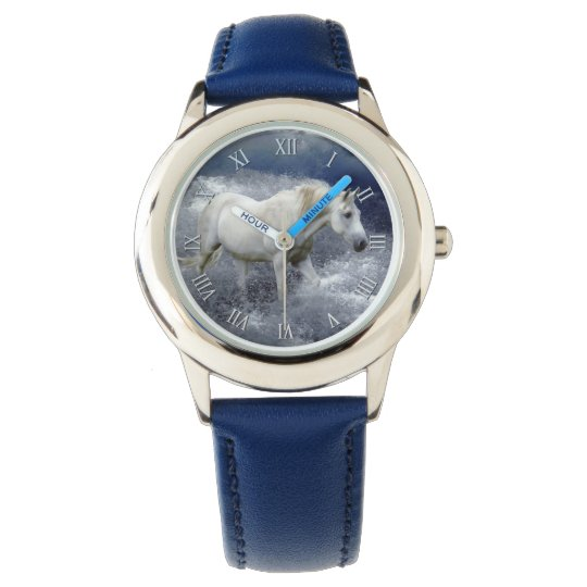 Fantasy White Horse & Ocean Surf Artwork Watch