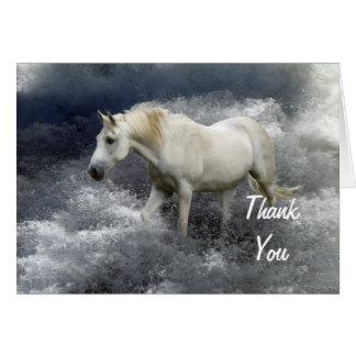 Fantasy White Horse & Ocean  Thank You Cards