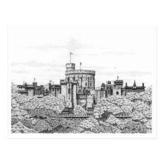 Fantasy Windsor Castle - Blank Postcard