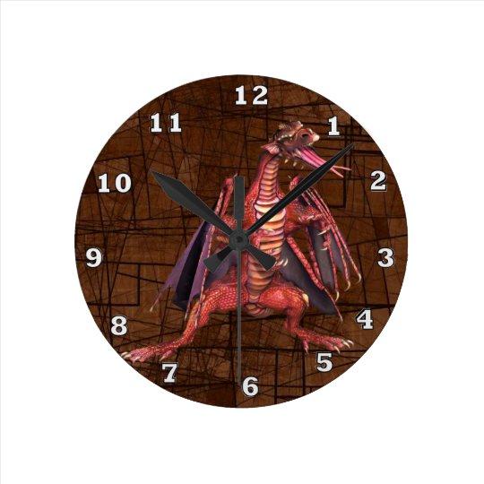 Fantasy Winged Dragon Clock