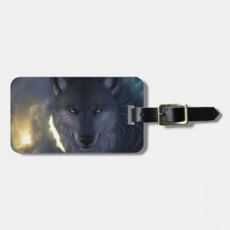 Fantasy Wolf Luggage Tag