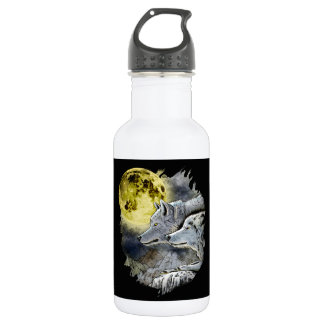Fantasy Wolf Moon Mountain 532 Ml Water Bottle