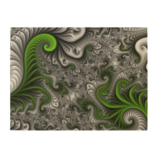 Fantasy World Green And Gray Abstract Fractal Art