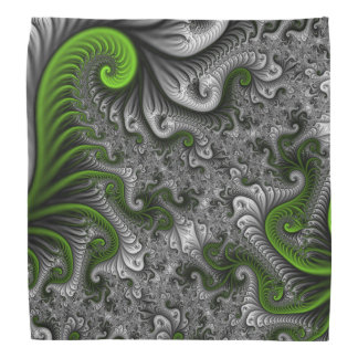 Fantasy World Green And Gray Abstract Fractal Art Do-rag