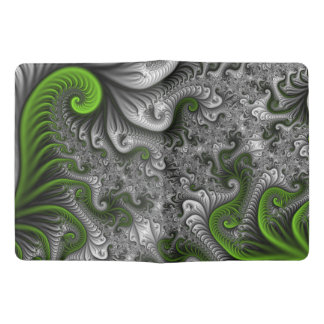 Fantasy World Green And Gray Abstract Fractal Art Extra Large Moleskine Notebook