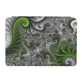 Fantasy World Green And Gray Abstract Fractal Art iPad Mini Cover