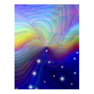 Fantsy Rainbow Postcard