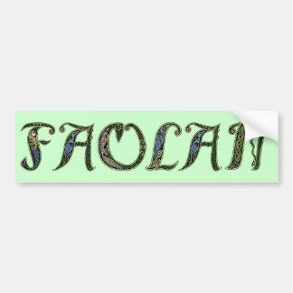 Faolan Celtic Sticker Car Bumper Sticker