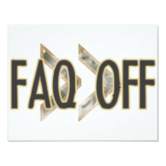 FAQ Off 11 Cm X 14 Cm Invitation Card