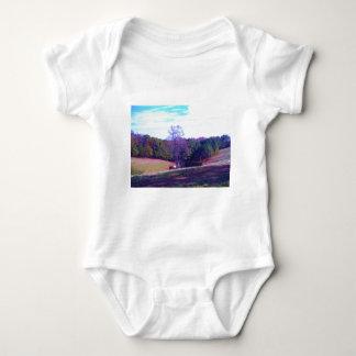 Far Away Horse in a Purple Field T Shirt